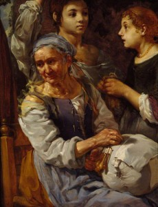 The Lacemaker. Berhard Keilhau (1624 - 1687) WA1966.65 (c) The Ashmolean Museum of Art and Archaeology; Supplied by The Public Catalogue Foundation.