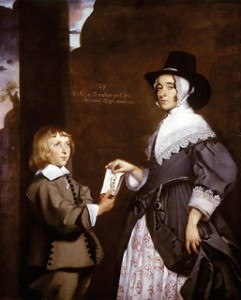 Hester Tradescant and Stepson. Attributed to Thomas de Critz (1607-1653) WA1898.14