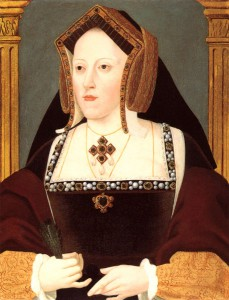 Catherine of Aragon by Lucas Hornebolte. now in the collection of the Duke of Buccleuch (a Northamptonshire landowner; according to Rev Lindsay of Kettering, in the 1860s the then Duke of Buccleuch was responsible for promoting Katterns). From Wikipedia Commons.